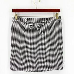 Ann Taylor Loft Skirt 10 Black White Houndstooth